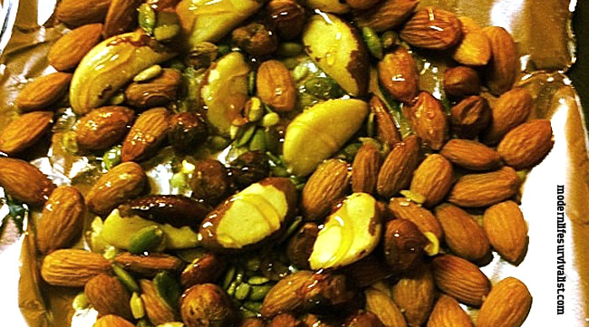 nuts paleo toasted honey