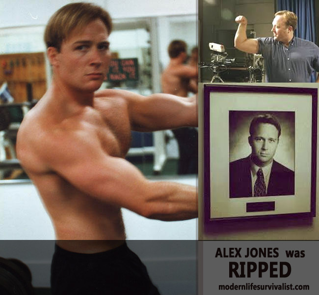 alex jones ripped muscles infowars young