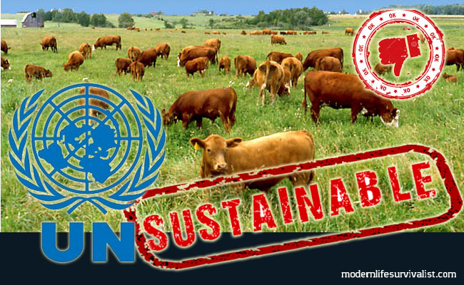 unsustainable united nations cows grass fed pasteur  new world order agenda 21 paleo vegan vegetarian