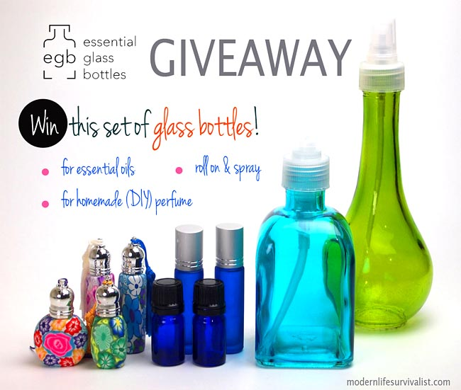 Essential Oils Glass Bottles Giveaway