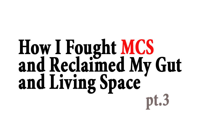 How I Fought MCS and Reclaimed My Gut and Living Space, Part 3